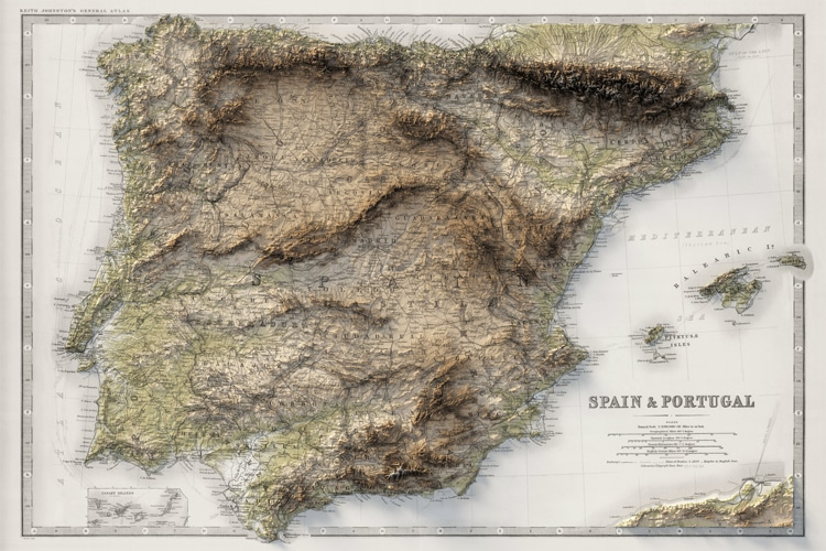 Spain and Portugal Map