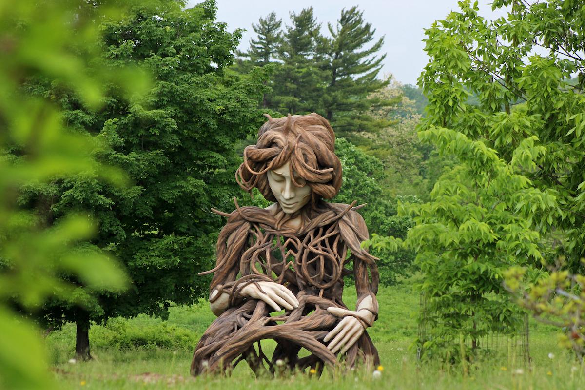 Large Outdoor Sculpture of Motherhood at the Morton Arboretum