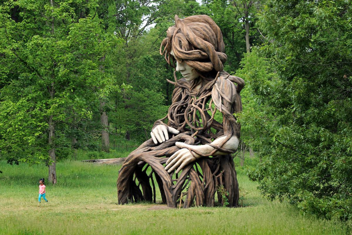 UMI Sculpture by Daniel Popper at the Morton Arboretum