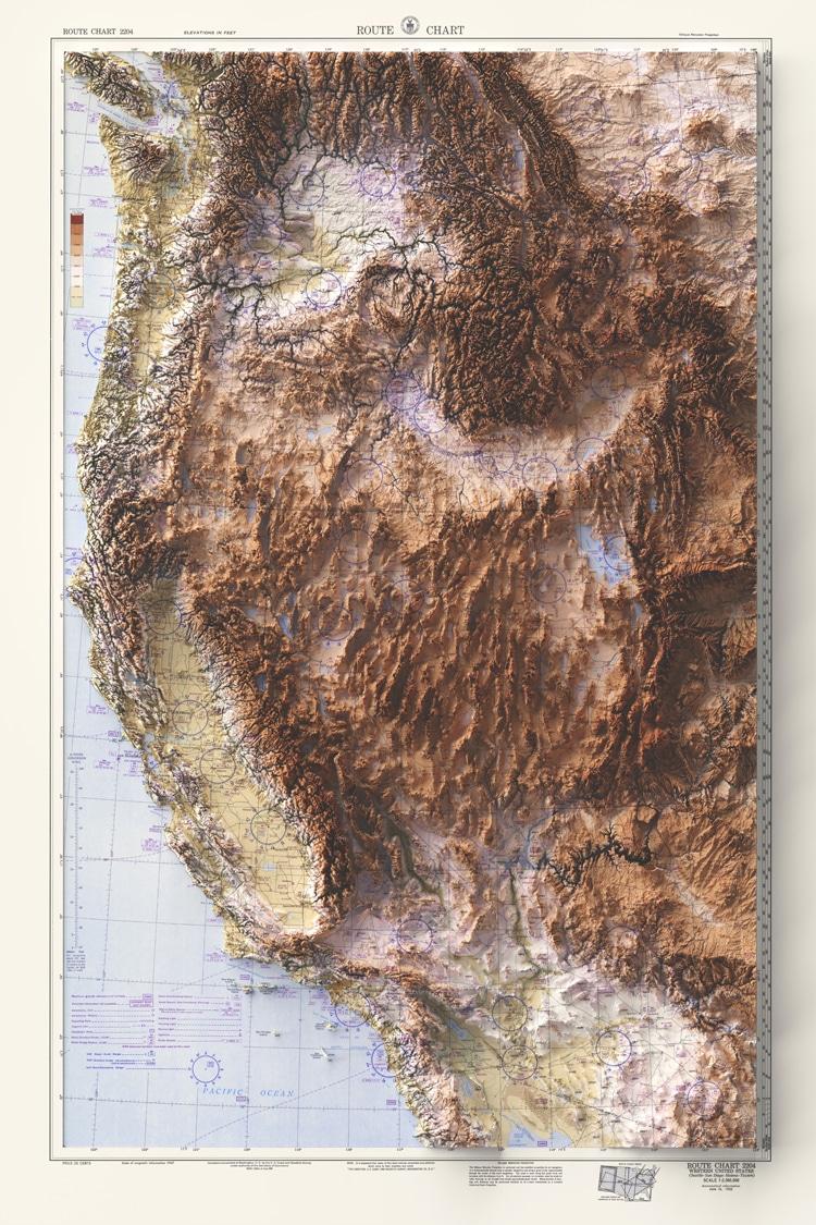 Western USA Map