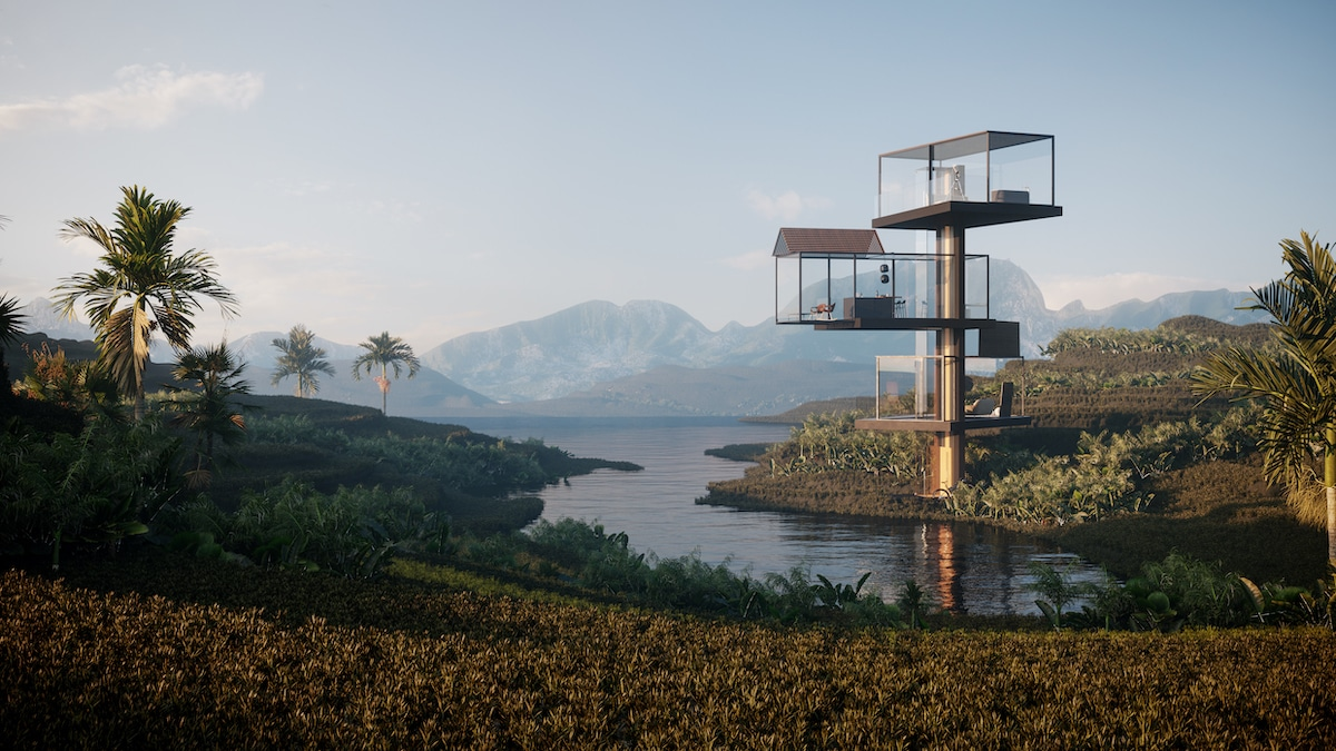 Adriano Design's House on the Rice Paddy