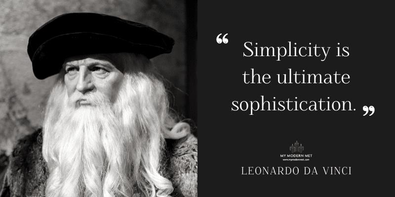 Leonardo da Vinci Architecture Quote
