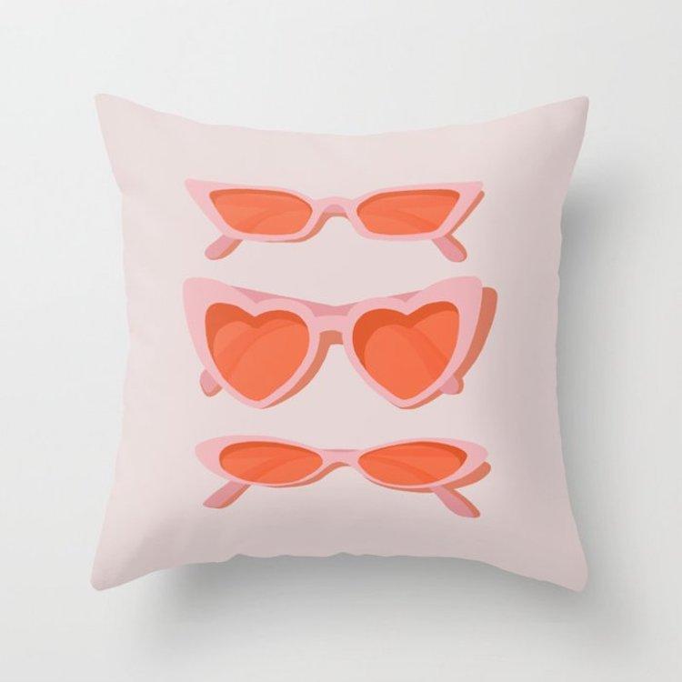 Heart Sunglasses Pillows