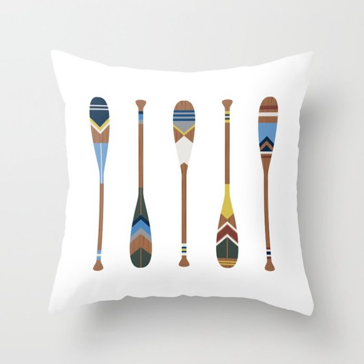 Canoe Oar Pillows