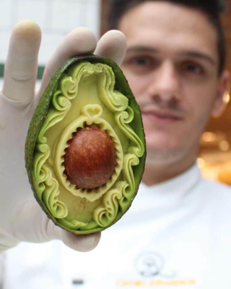Avocado Carvings by Daniele Barresi