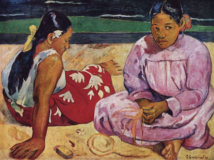 Tahitian Women on the Beach by Paul Gauguin