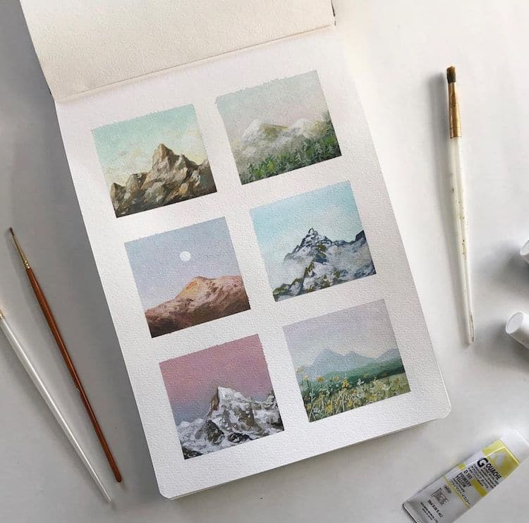 pintura con gouache por Bigbluetang