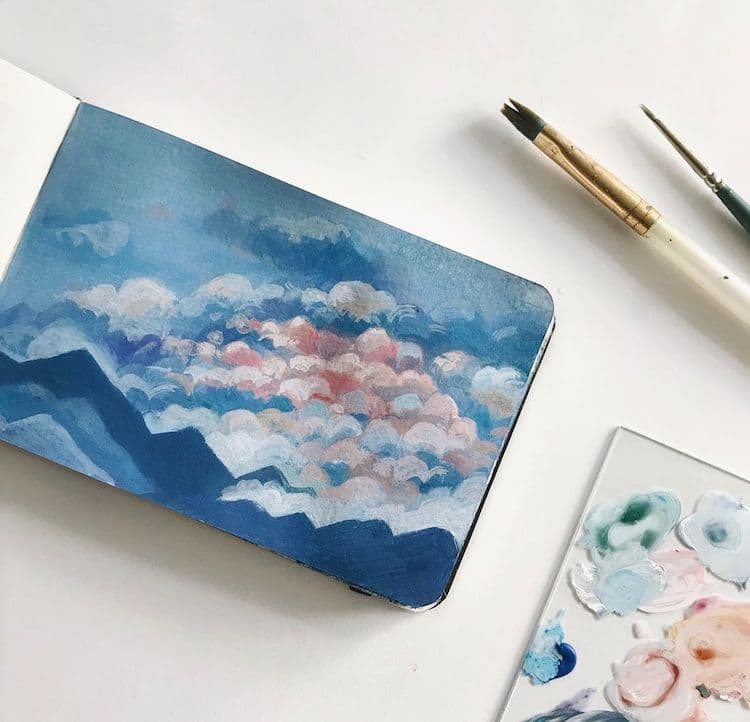 Gouache Paintings by Bigbluetang