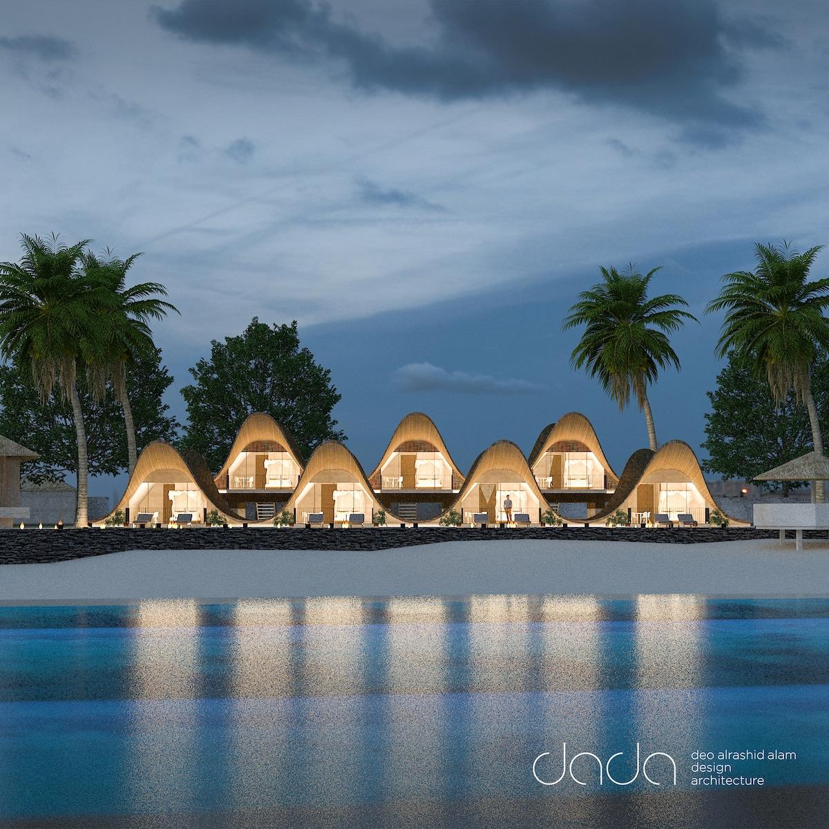 Bihing Tahik Resort from across the water