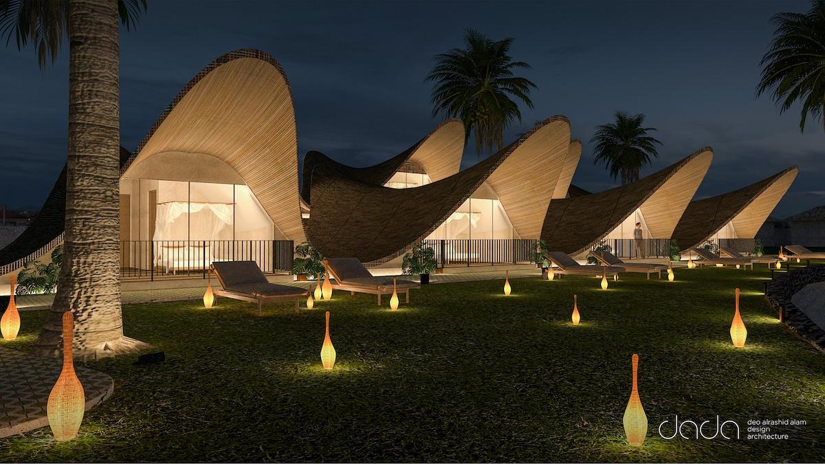 Bihing Tahik Resort exterior shot