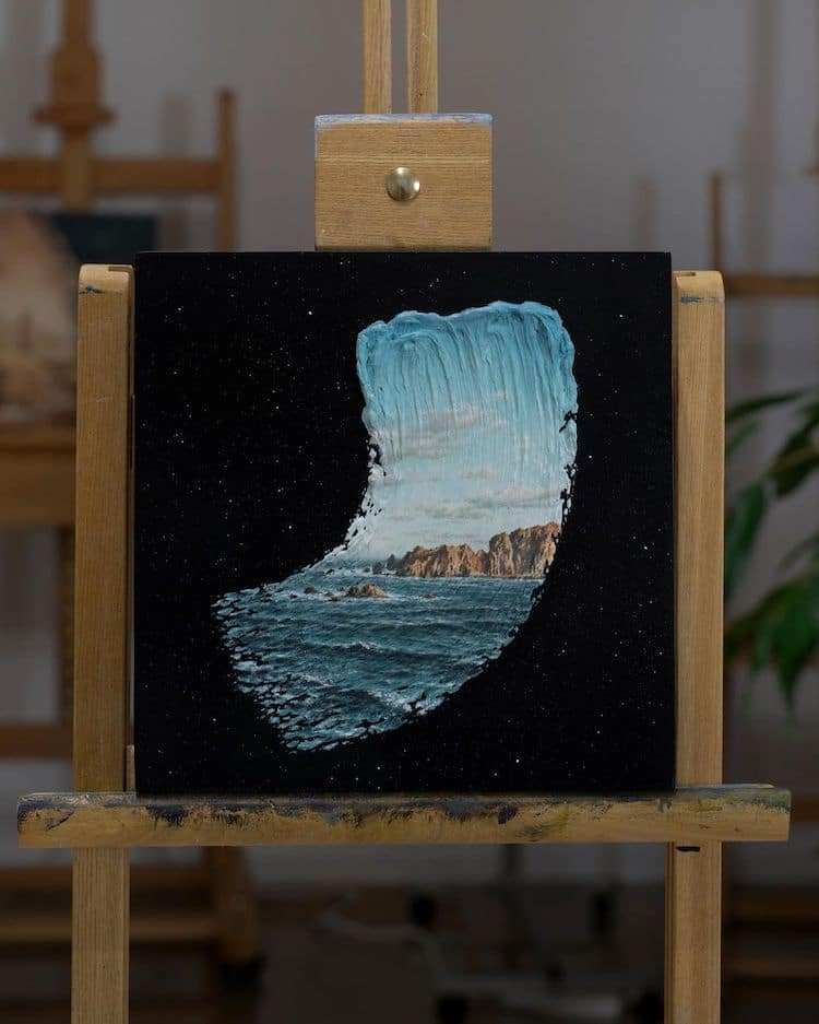 Brushstrokes in Time Paintings by David Ambarzumjan