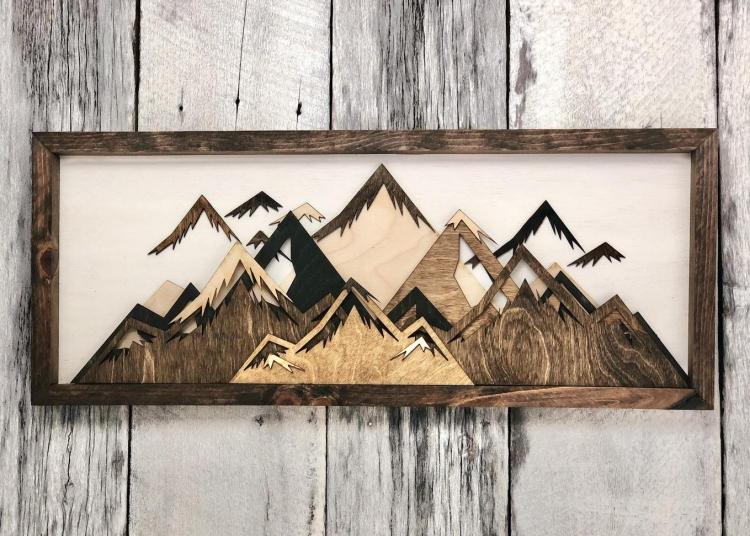 Wood Mountain Wall Art