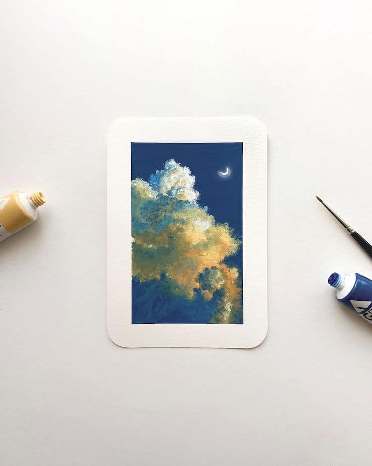 Cloudscape Paintings by Cathy Camille