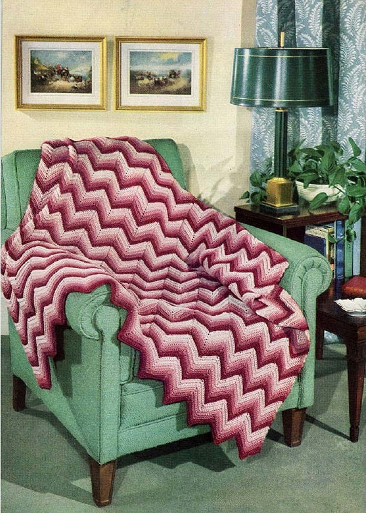 Chevron Crochet Pattern for Throw