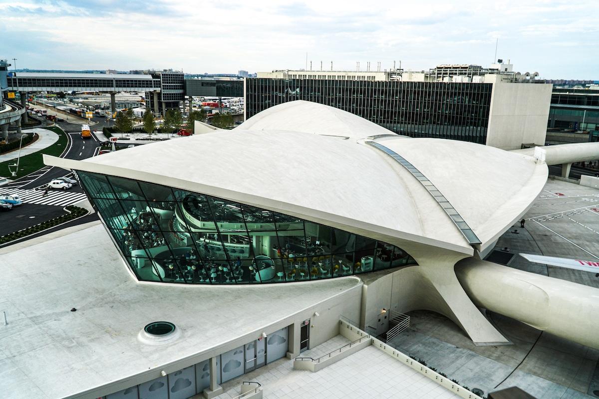 Exterior of TWA Flight Center by Eero Saarinen