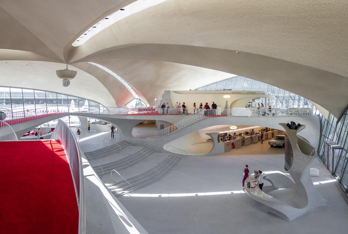 Interior of TWA Flight Center by Eero Saarinen