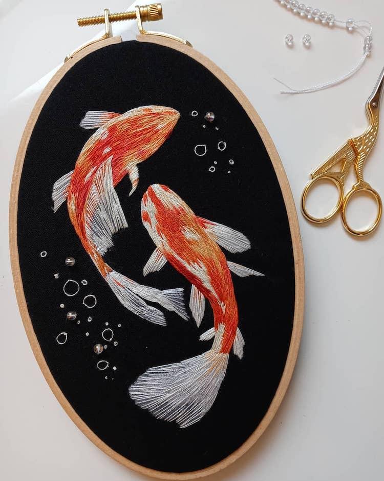 Stumpwork Embroidery Insects by Megan Zaniewski