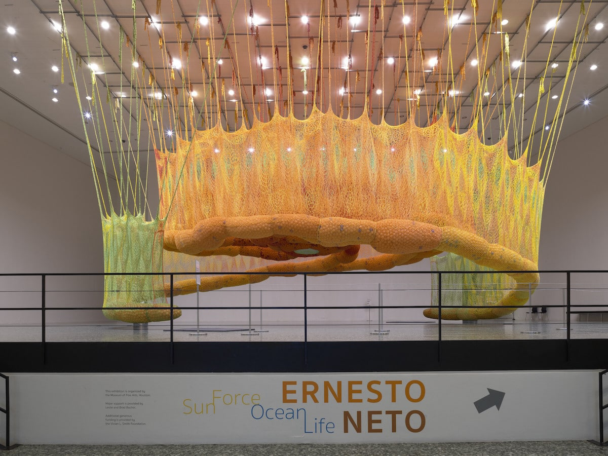 Crochet Art Installation by Ernesto Neto