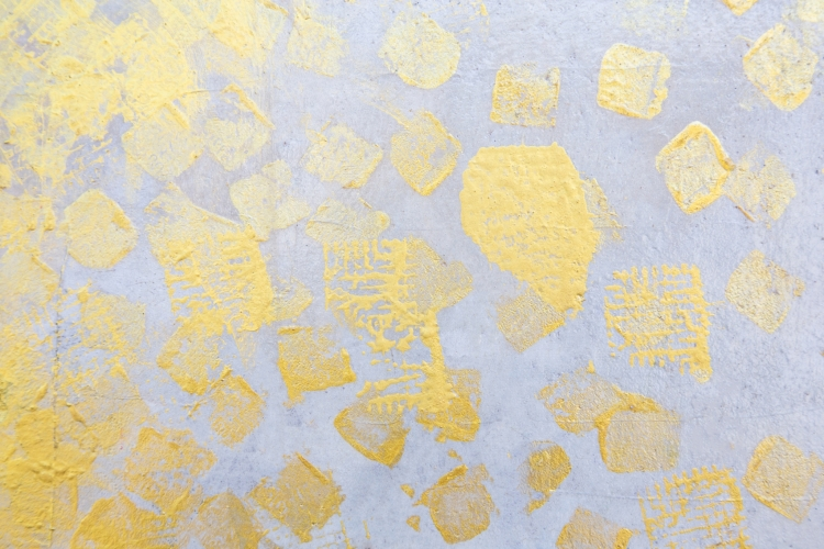 Abstract Gold Leaf Wall Art