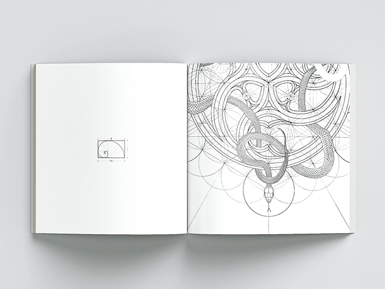 Golden Geometry Coloring Book