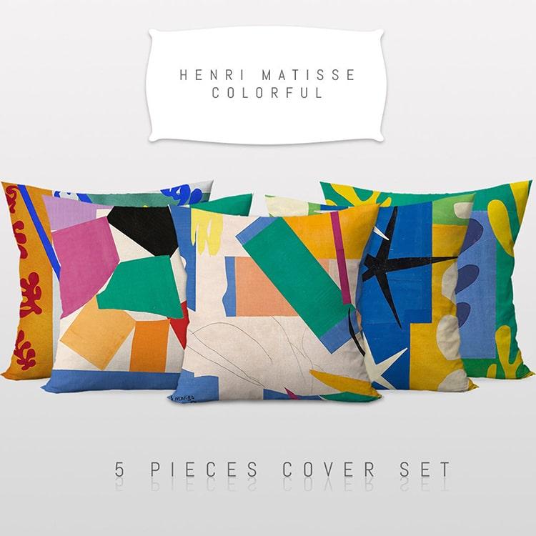 Henri Matisse Inspired Art PIllow Covers
