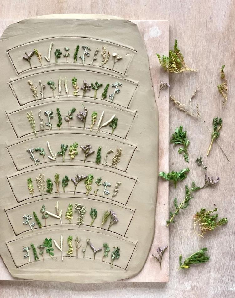 Botanical Pottery and Ceramic Dishes by Hessa Al Ajmani
