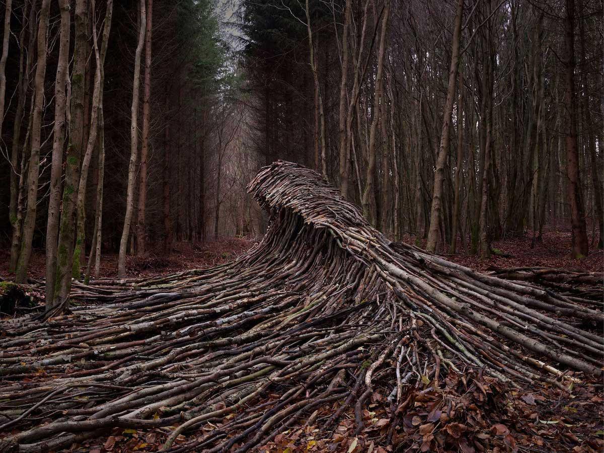 Jorg Glascher Waves Wood Art Installation