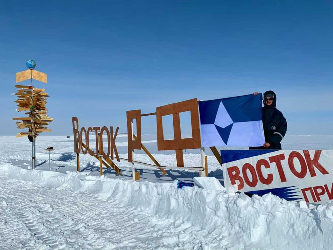 Alexey Golubev, an employee of the Russian Arctic and Antarctic Research Institute
