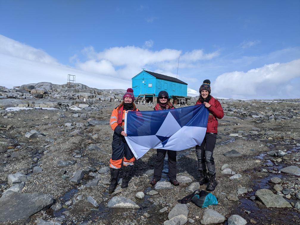 True South Flag in Antarctica