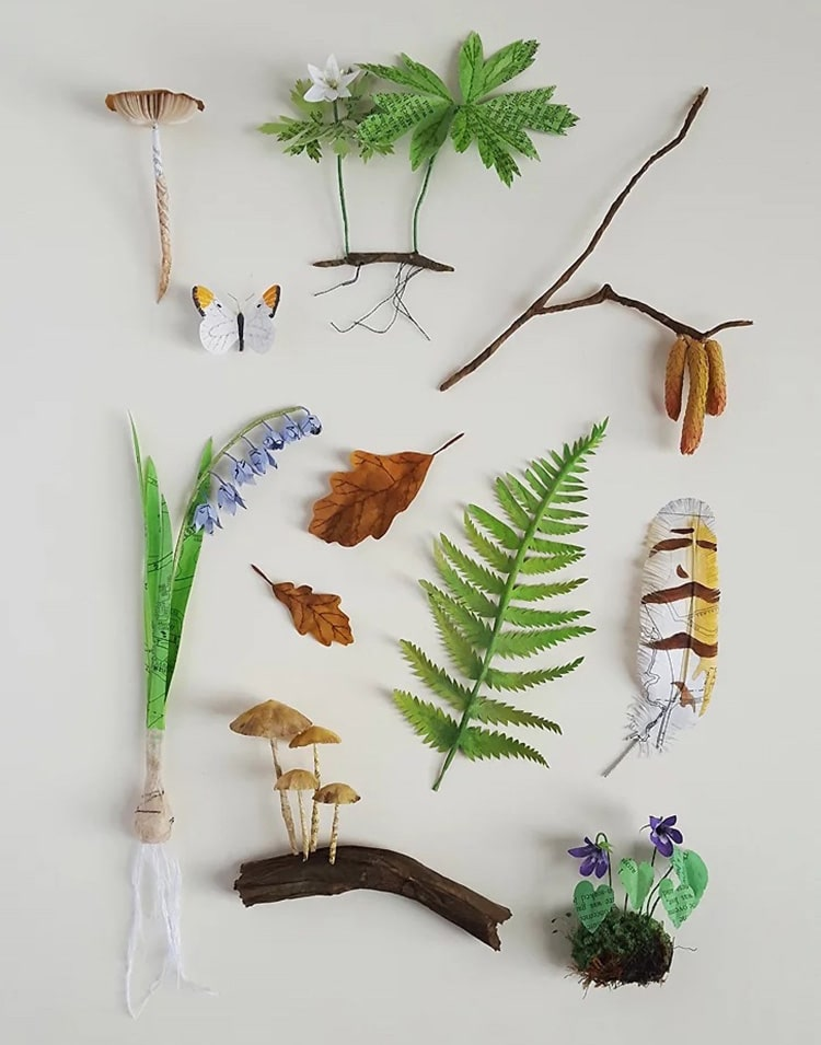 Kate Kato Recycled Paper Sculptures