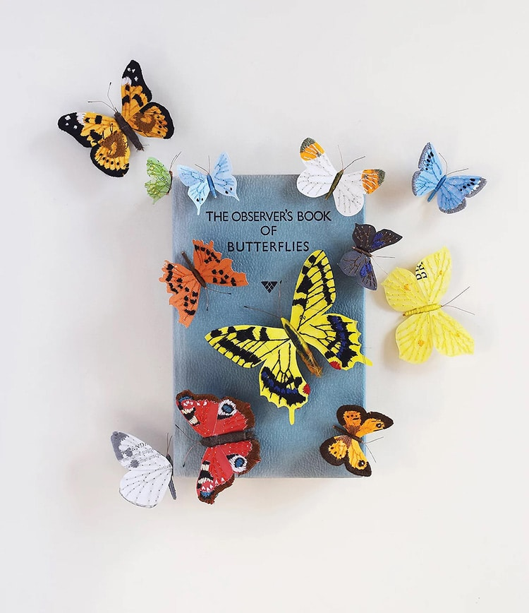 Butterfly Altered Book Sculpture