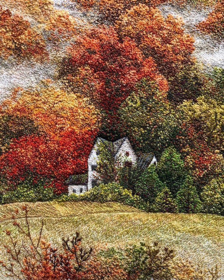 Embroidered Landscape by Katrin Vates