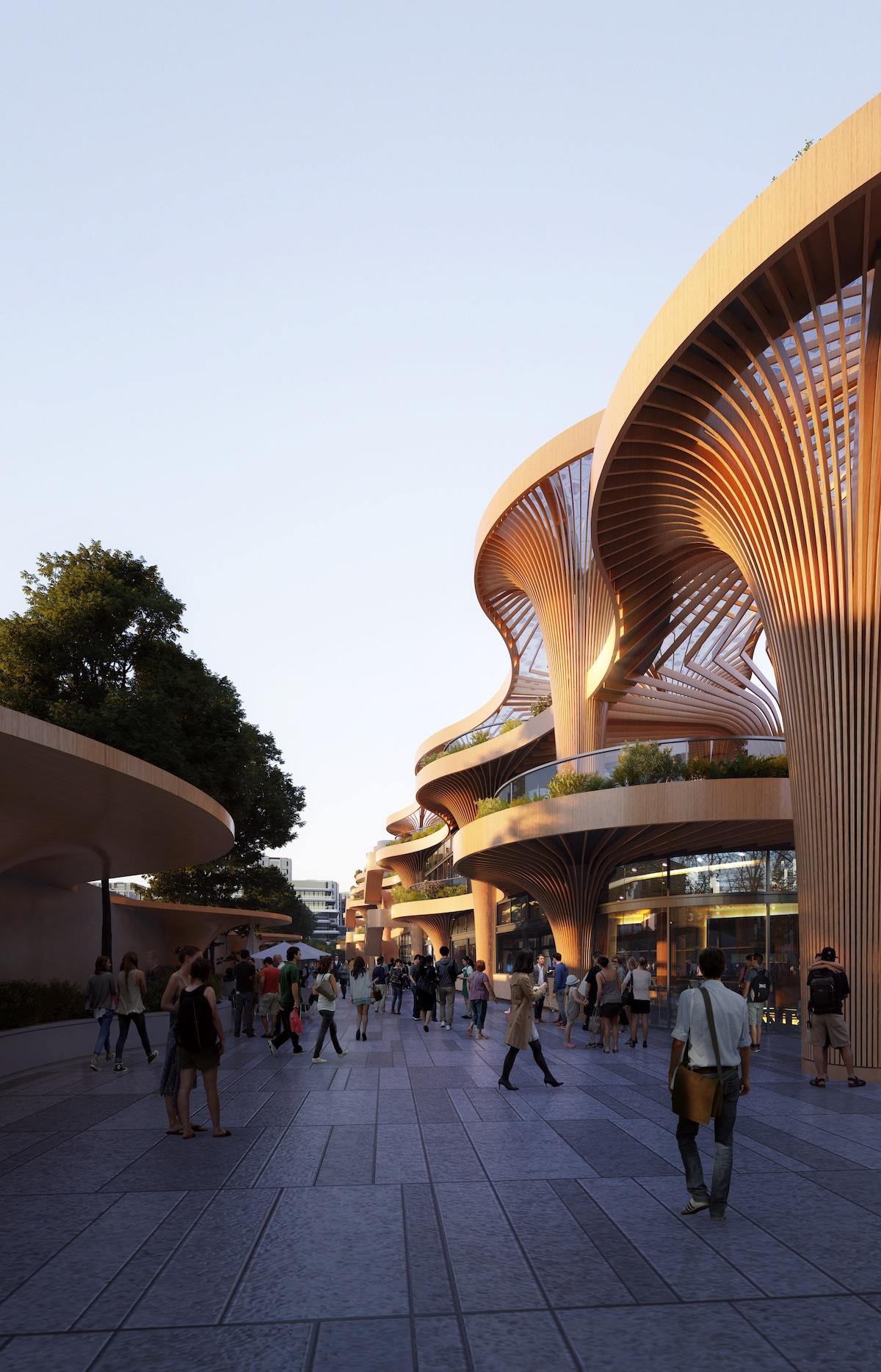 Solar Trees Marketplace by Koichi Takada Architects