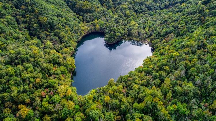 Lake Toyoni in Japan