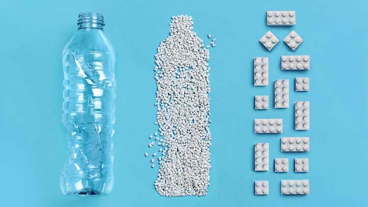 Briques LEGO en plastique recyclé