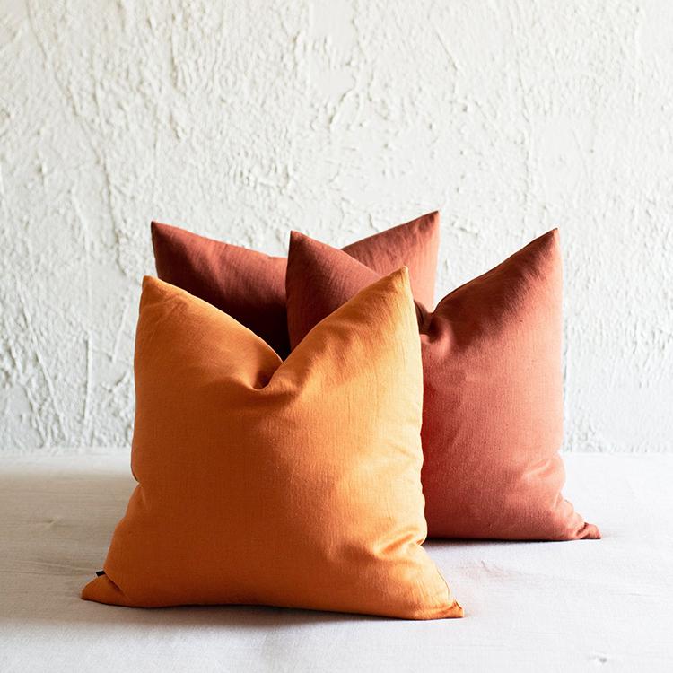 Linen Rainbow Pillow