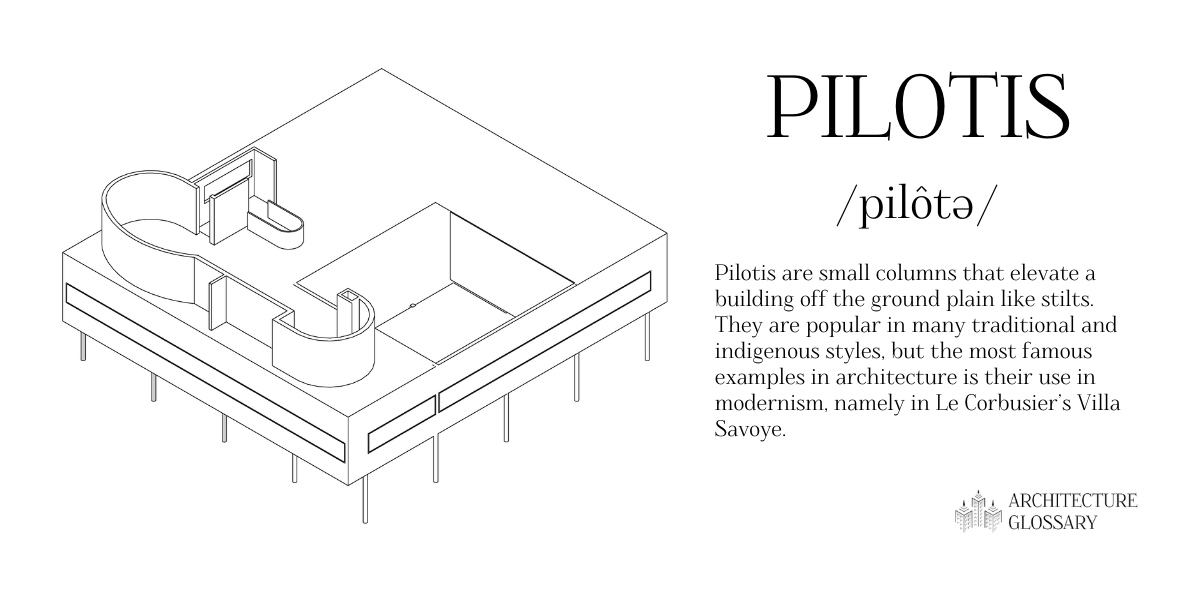 Pilotis Definition - 100 Architecture Terms to Help You Describe Buildings Better