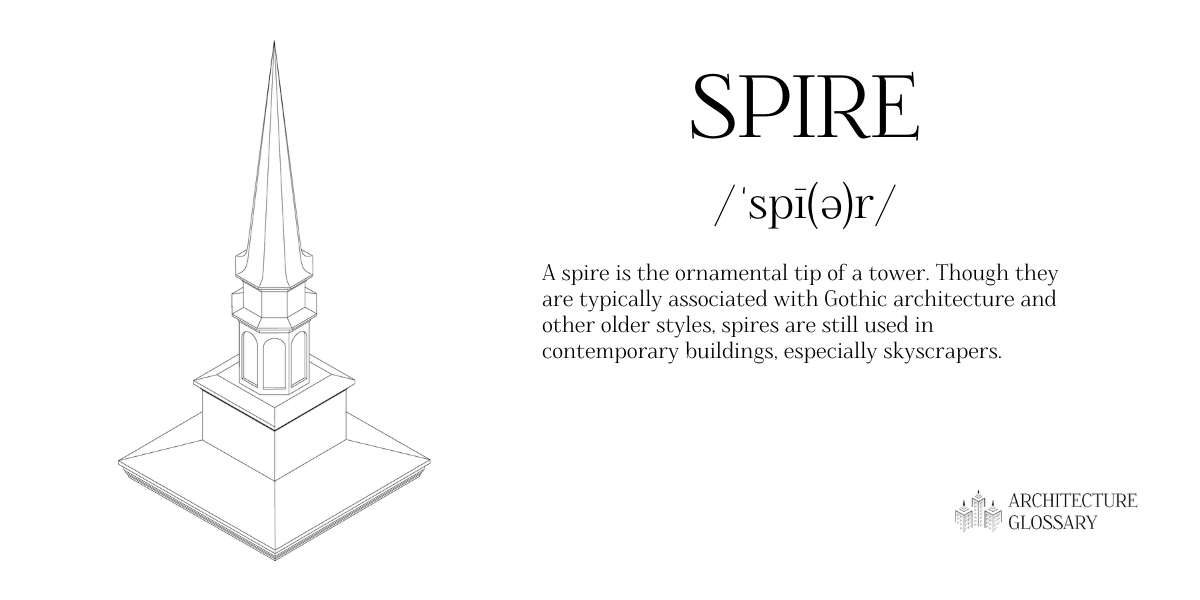 Spire Definition - 100 Architecture Terms to Help You Describe Buildings Better