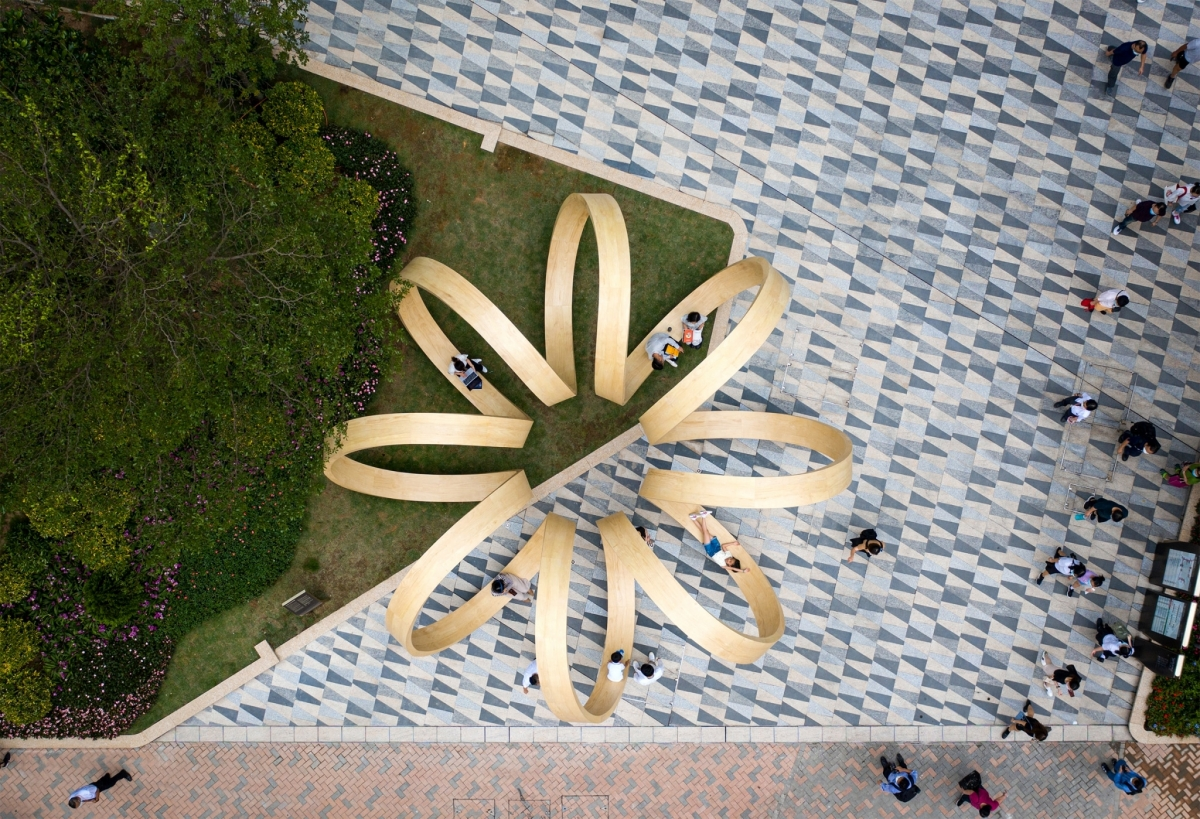 Time Loop Public Art Installation by Paul Cocksedge Studios