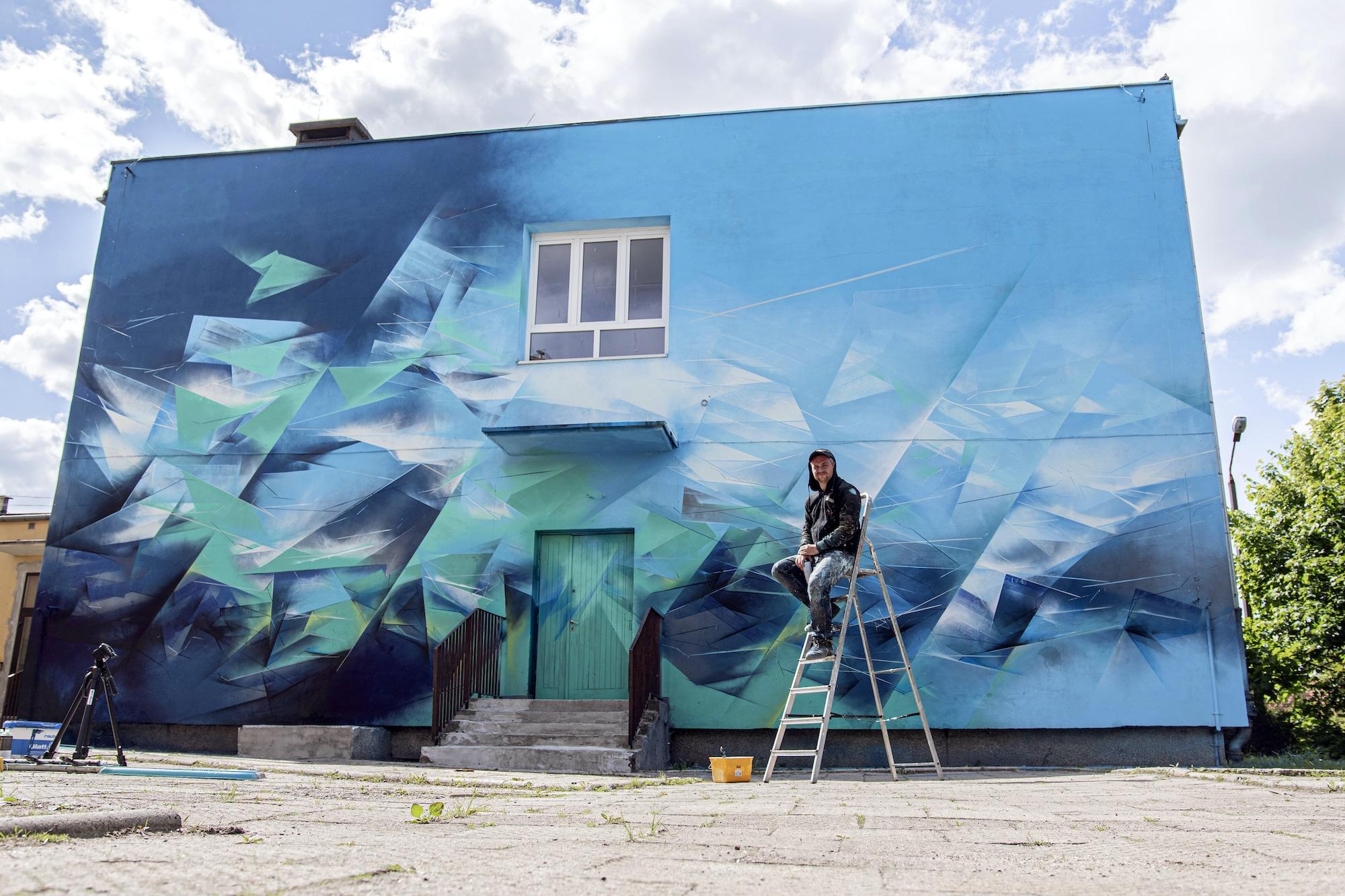 Mirror Land Street Art by Pener