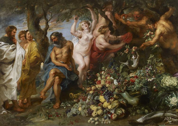 Pythagoras Advocating Vegetarianism by Peter Paul Rubens