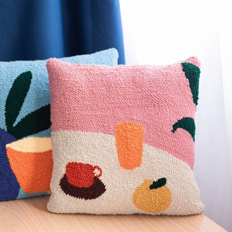 Punch Needle Embroidery Pillow Kit