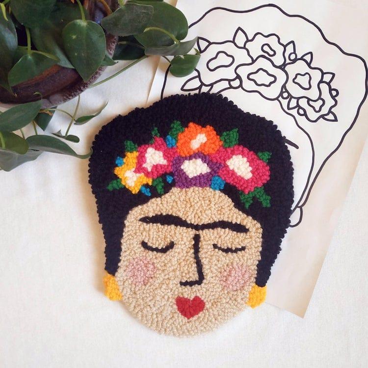 Frida Kahlo Punch Needle Pattern