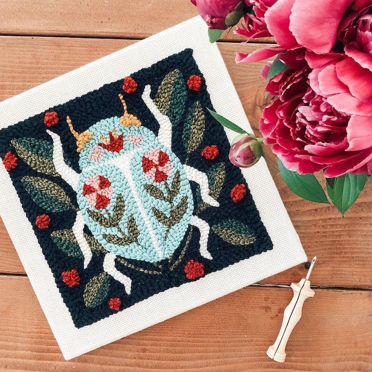 Beetle Punch Needle Pattern