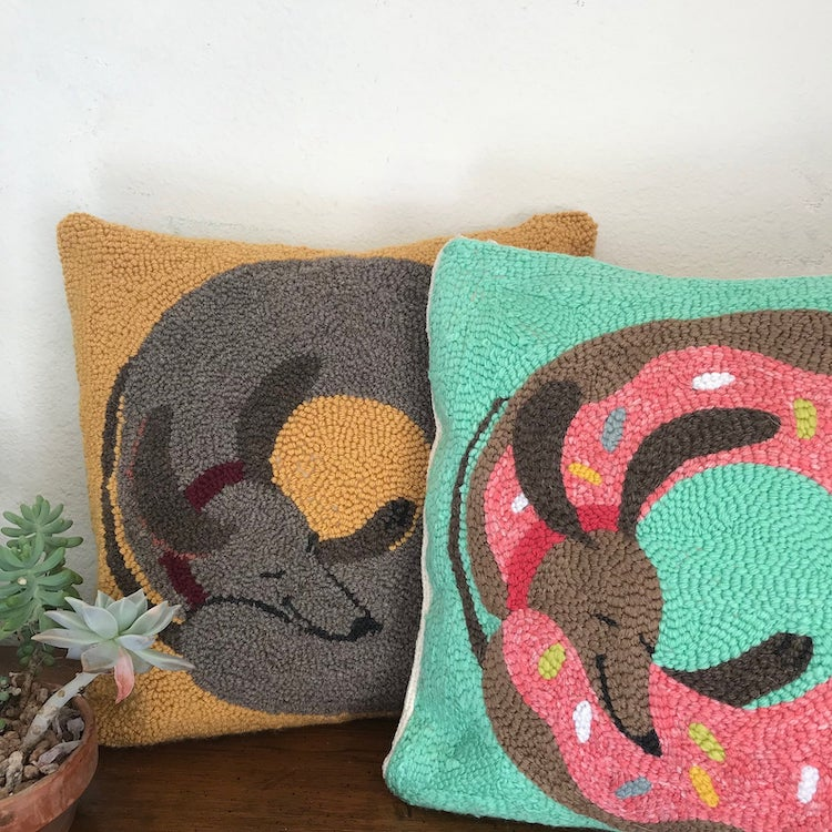 Dachshund Punch Needle Embroidery Kit