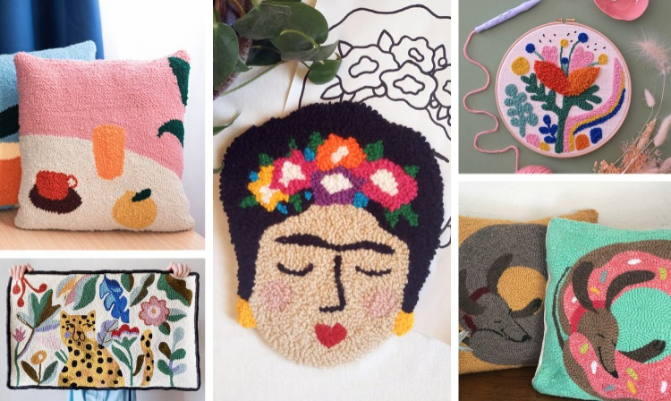 Punch Needle Embroidery Patterns and Kit