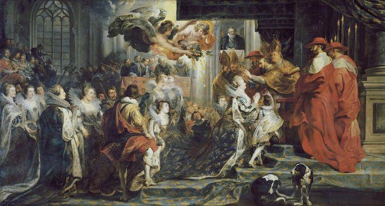 Coronation in Saint-Denis by Peter Paul Rubens