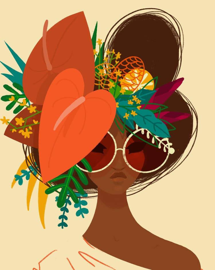 Punky Aloha Hawaiian Art by Shar Tuiasoa