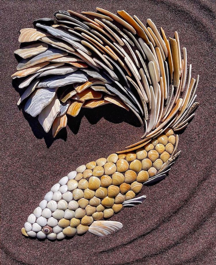 Art en coquillages par Anna Chan