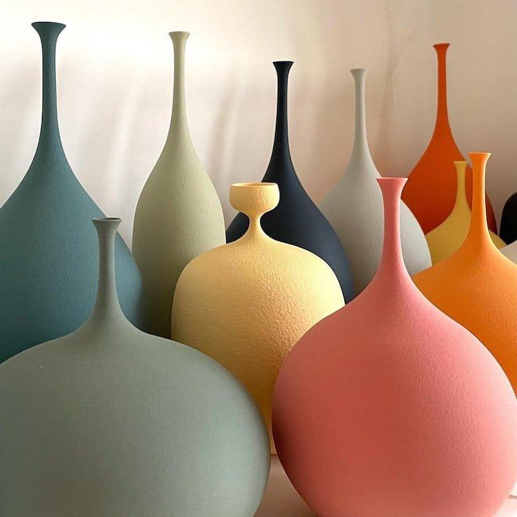 Porcelain Vessels by Sophie Cook